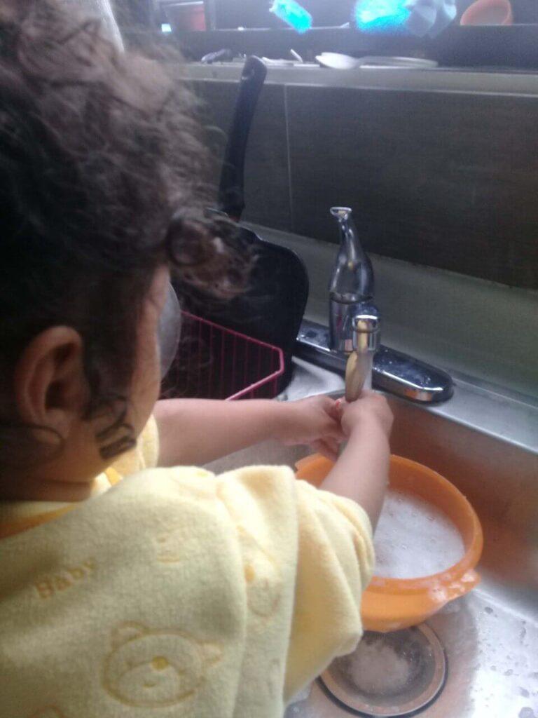 Tareas del hogar para niños de 3-6 años